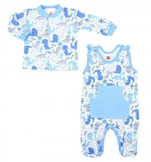 Комплект кофта/полукомбинезон  Dino Blue, цвет: голубой Makoma