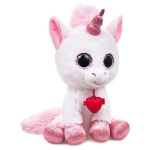 Мягкая игрушка  Глазастик единорог, бело-розовый Fancy. Цвет: розовый/белый