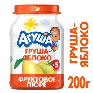 Пюре  груша-яблоко с 5 месяцев, 200 г Агуша