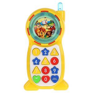 , Телефон музыкальный Учим цвета,формы и цифры Умка