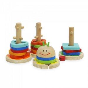 Деревянная игрушка  Сортер Гусеница 15 деталей 47478 Фабрика фантазий