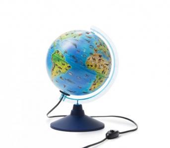 Глобус Земли интерактивный зоогеографический с подсветкой и очками VR 210 мм Globen