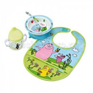 Набор детской посуды Barbapapa с нагрудником Petit Jour