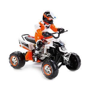 Квадроцикл  с гонщиком (бело-оранжевый) Toystate