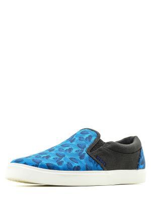 Слипоны  CitiLane Tropical Slip-on M Ocean/White, цвет: синий Crocs