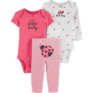Комплект : брюки и боди 2 шт carter`s. Цвет: розовый