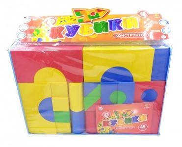 Развивающая игрушка  Кубики мягкие (48 предметов) PT-00578 ABtoys