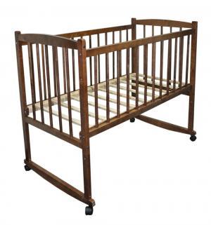Кровать  Беби-1, цвет: орех Массив
