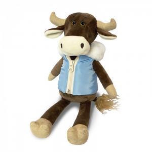 Мягкая игрушка  Бык Гаврила в пуховой жилетке 28 см Maxitoys