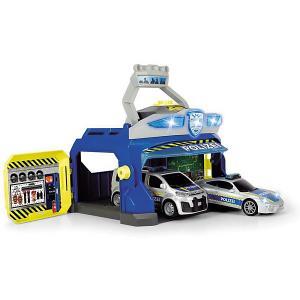 Игровой набор  Полицеская станция и 2 машинки, свет звук Dickie Toys. Цвет: разноцветный