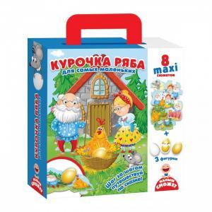 Игра настольная Макси пазлы Путешествие по сказке Курочка Ряба Vladi toys