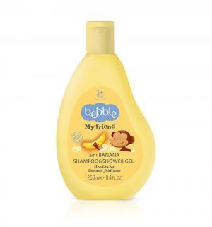 Шампунь-гель для душа 2 в 1 с ароматом банана  My Friend, 250 мл Bebble
