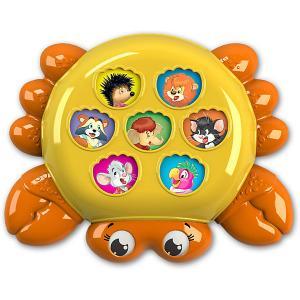Музыкальная игрушка  Плеер-кроха Крабик Азбукварик. Цвет: разноцветный