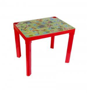 Стол детский  Азбука, цвет:красный Полимербыт