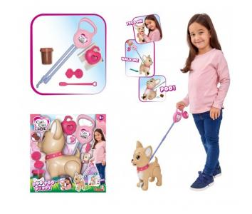 Интерактивная игрушка  Собачка с поводком для прогулки 29 см Chi-Chi Love