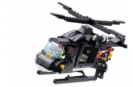 Конструктор  Вертолёт полиции M38-B1800R (219 элементов) Sluban