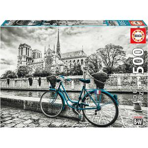 Пазл  500 деталей Велосипед возле Нотр-Дама Educa