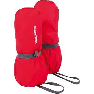 Варежки Didriksons Glove. Цвет: красный