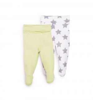 Комплект ползунки 2 шт , цвет: зеленый/белый Happy Baby