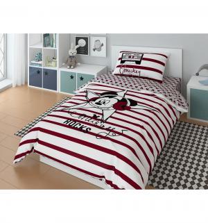 Комплект постельного белья  Mickey star, цвет: белый/красный 3 предмета Нордтекс