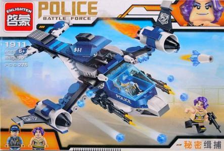 Конструктор  Самолёт Полиция с фигурками (275 деталей) Enlighten Brick