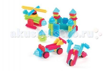Конструктор  игольчатый в коробке 112 деталей Bristle Blocks