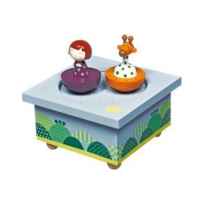 Музыкальная шкатулка Wooden Box Ninon & Giraffe Trousselier