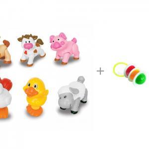 Развивающая игрушка  Домашние животные и Погремушка Светофор Kiddieland