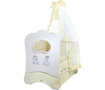 Детская кроватка  Majesty Brillante FMS OBLO продольный маятник Feretti