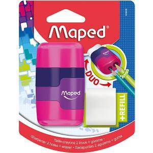 Канцелярский набор 2в1  Connect с точилкой и ластиком Maped. Цвет: разноцветный