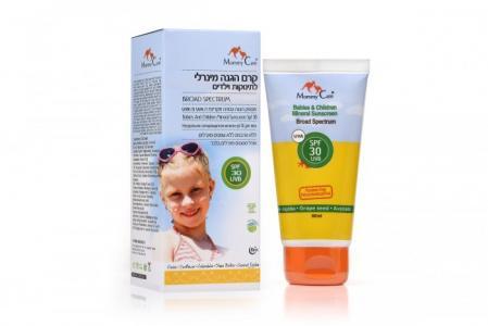 Натуральное солнцезащитное молочко для тела SPF 30 80 мл Mommy Care