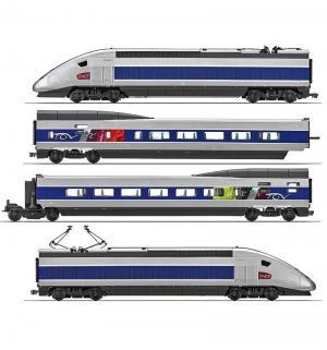 Железная дорога  TGV Pos 1 : 87 130 см Mehano