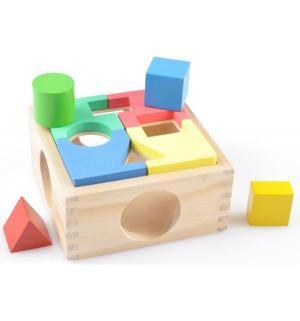 Развивающая игрушка  Занимательная коробка-пазл, 15 см Мир Деревянных Игрушек