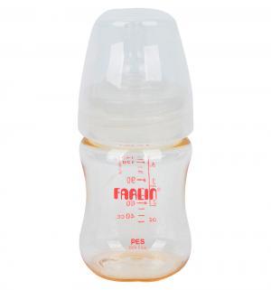 Бутылочка  для кормления широкое горлышко полипропилен, 140 мл, цвет: прозрачный Farlin
