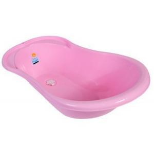 Детская ванночка с термометром и сливом  Ангел, цвет: розовый Little Angel