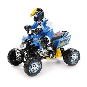 Квадроцикл  с гонщиком (бело-синий) Toystate