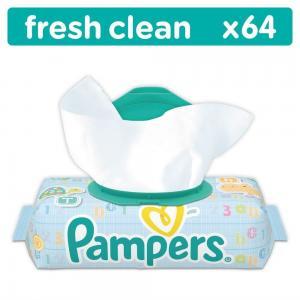 Влажные салфетки  Baby Fresh Clean, 64 шт Pampers