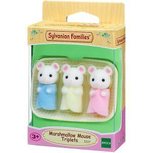 Набор Sylvanian Families Тройняшки Зефирные мышата Epoch Traumwiesen. Цвет: бежевый