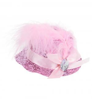 Шляпка-заколка  розовая Патибум