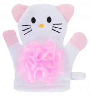 Мочалка  Кошечка, цвет: белый Lubby