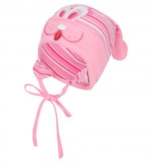 Шапка , цвет: розовый/белый Fido