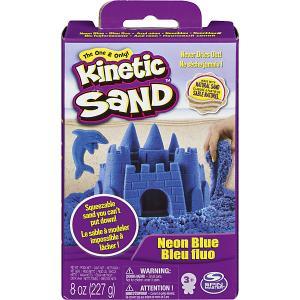Кинетический песок набор для лепки 240 г Голубой Kinetic sand. Цвет: синий