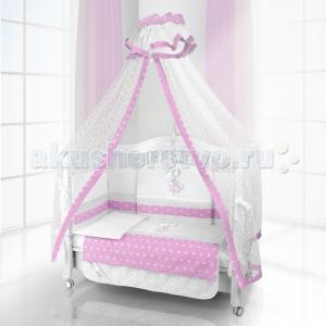 Комплект в кроватку  Unico Ragazza 125х65 (6 предметов) Beatrice Bambini