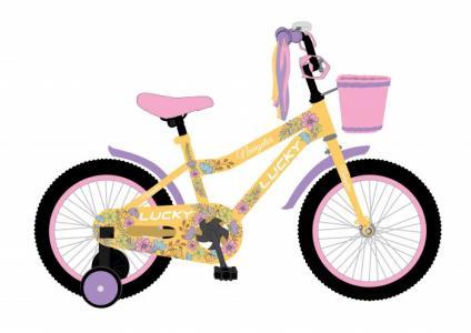 Велосипед двухколесный  Lucky 12 с корзиной Navigator