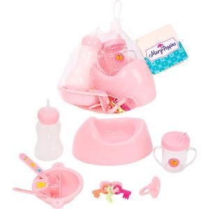 Аксессуары для куклы  Уроки заботы, 8 предметов Mary Poppins. Цвет: розовый