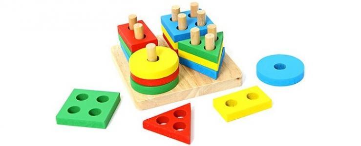 Деревянная игрушка  Сортер Логический квадрат Фабрика фантазий