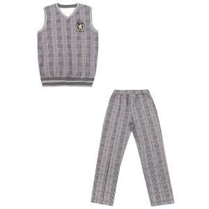 Комплект жилет/брюки  День знаний, цвет: серый Апрель