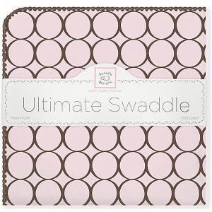 Фланелевая пеленка  Pink, 110х110 см SwaddleDesigns. Цвет: розовый