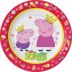 Набор тарелок  Пеппа-принцесса, 6 шт Росмэн. Цвет: красный