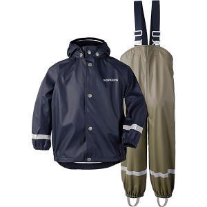 Комплект Didriksons: куртка и полукомбинезон DIDRIKSONS. Цвет: синий/зеленый